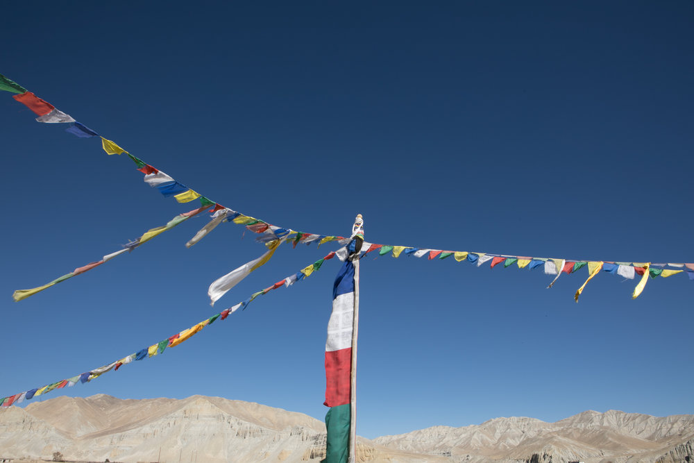 Prayer flags at Charang.