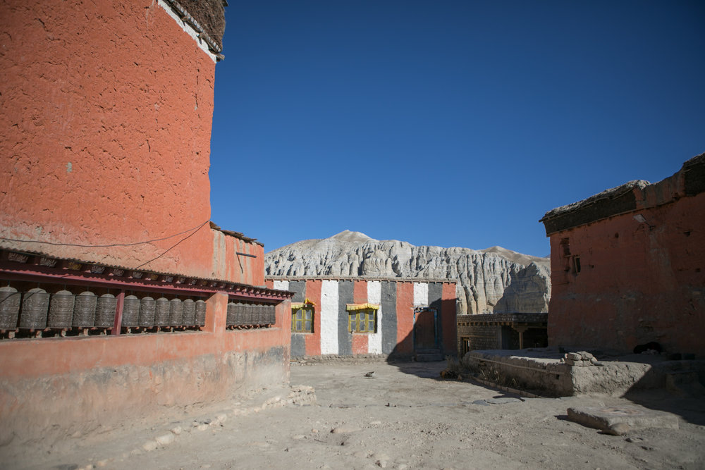 Monastary yards.  Later, we found out that the monastery was built by the Guru Padma Sambhawa before reaching tibet in the 8th Century.