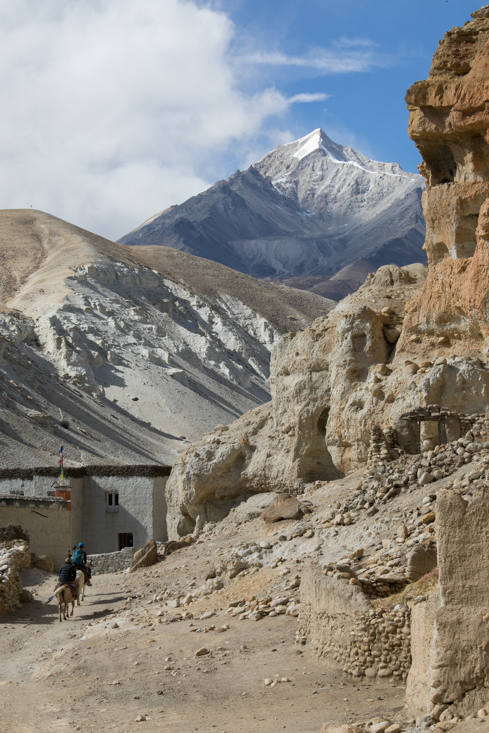 A tourist and guide ride through the Chosar valley.