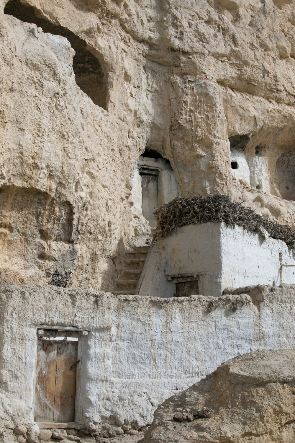 A home built around a cave dwelling.