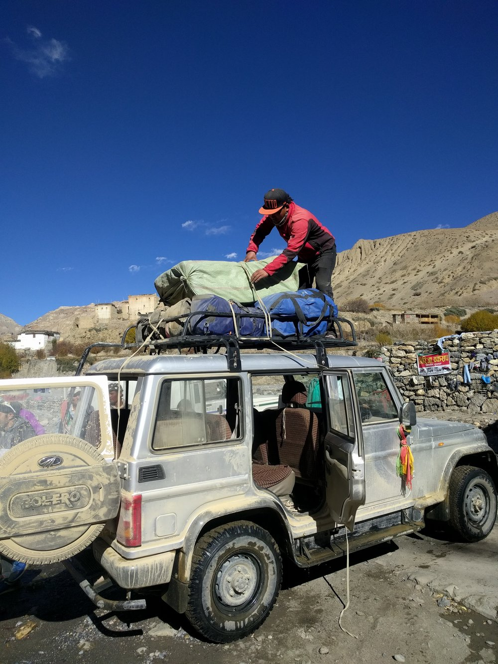 We got to Kagbeni, had our passes stamped and paid a little extra to ride down to Jomsom.
