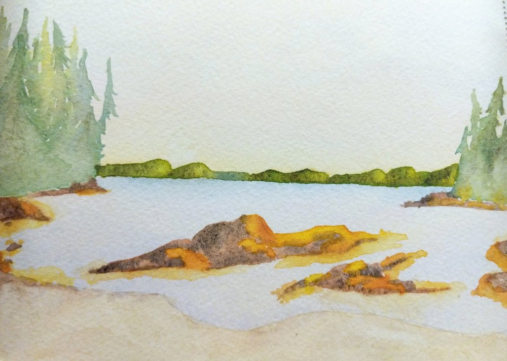 Watercolor Sketch Tah Bay