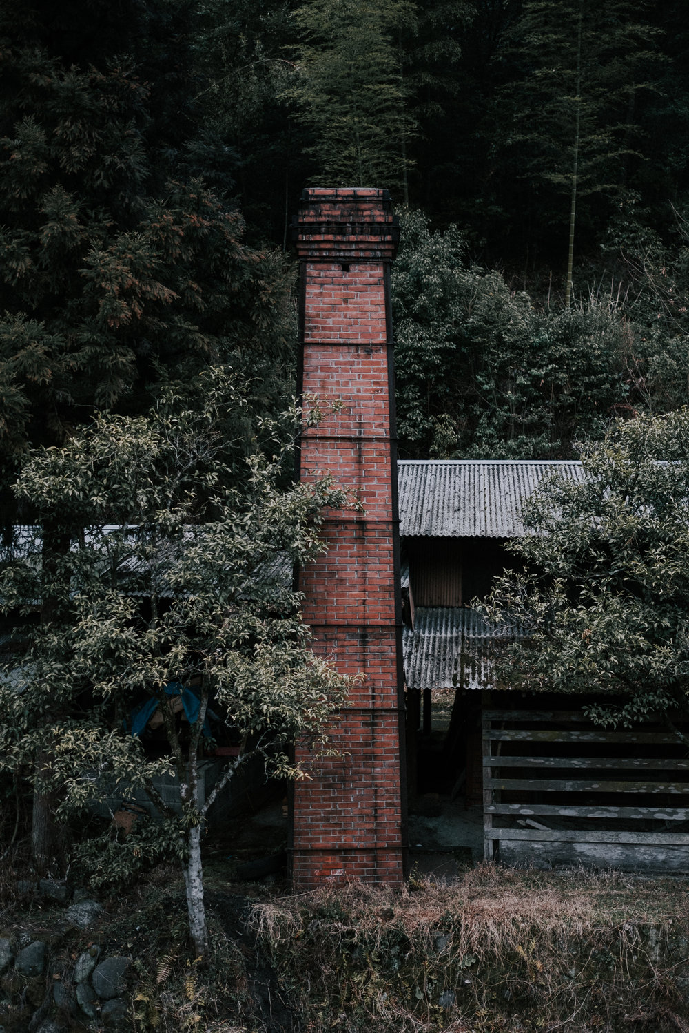 A chimney in Ontayaki village.