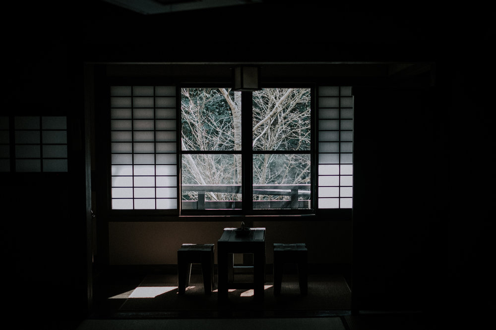 My window at Ryokan Sanga.