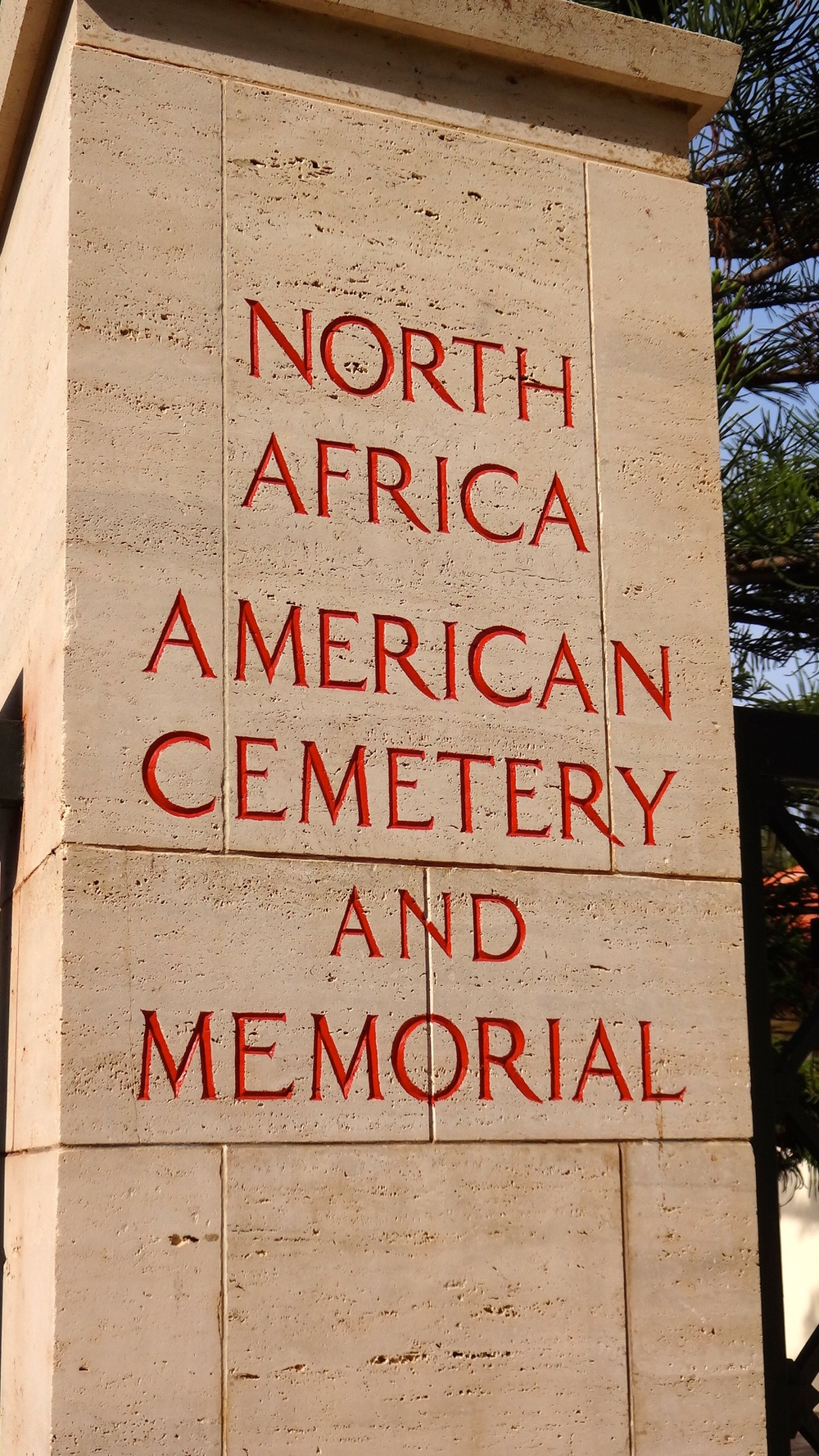 The North Africa American Cemetery and Memorial is the only American military cemetery on the African continent