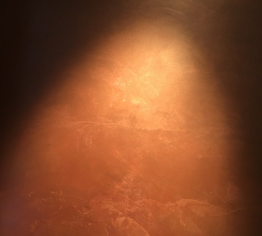 Topcret microcement i kopparfärg