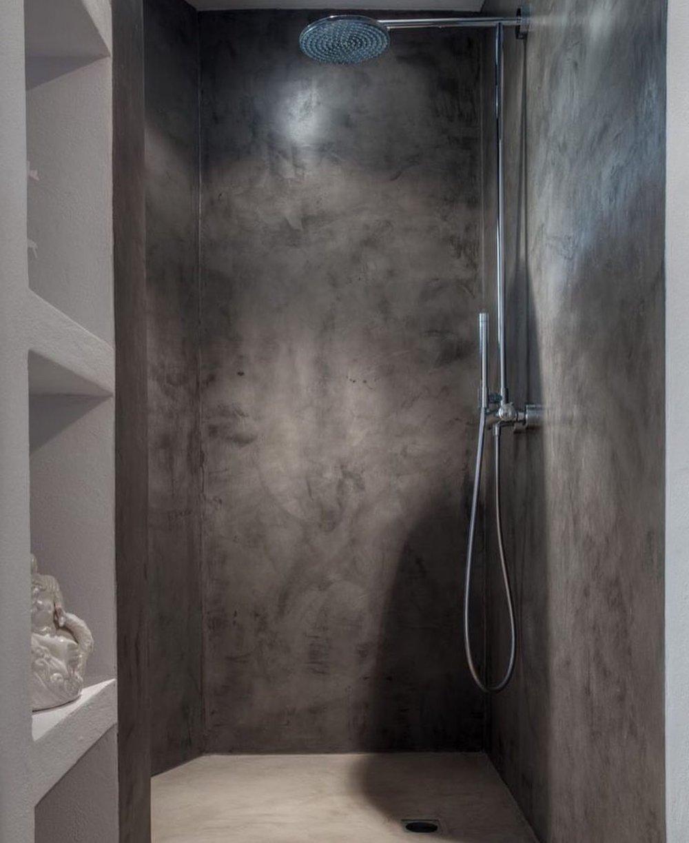 Badrum - Väggar och golv i Topcret microcement