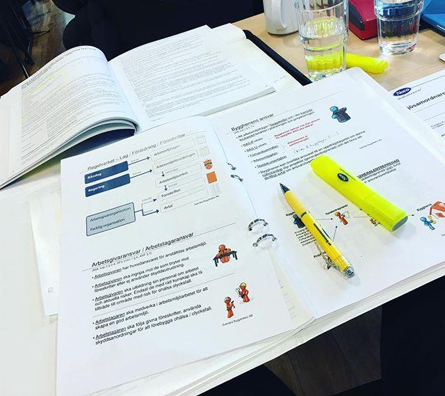 Kurs idag i BAS-U / BAS-P 🤓 #engmansattermon #kurs #arbetsmiljö