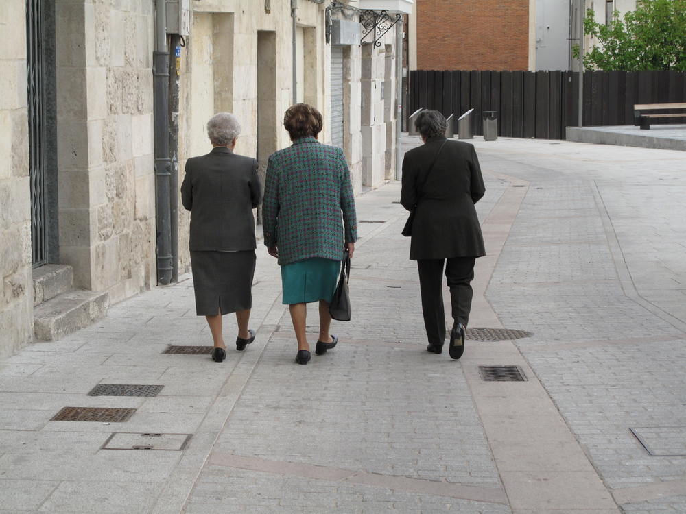 "Today was a ""zero"" day where I didn't travel. I hung out in Burgos and saw these lovely ladies wandering down the street.  For some reason, they reminded me of my Italian great-grandmother."