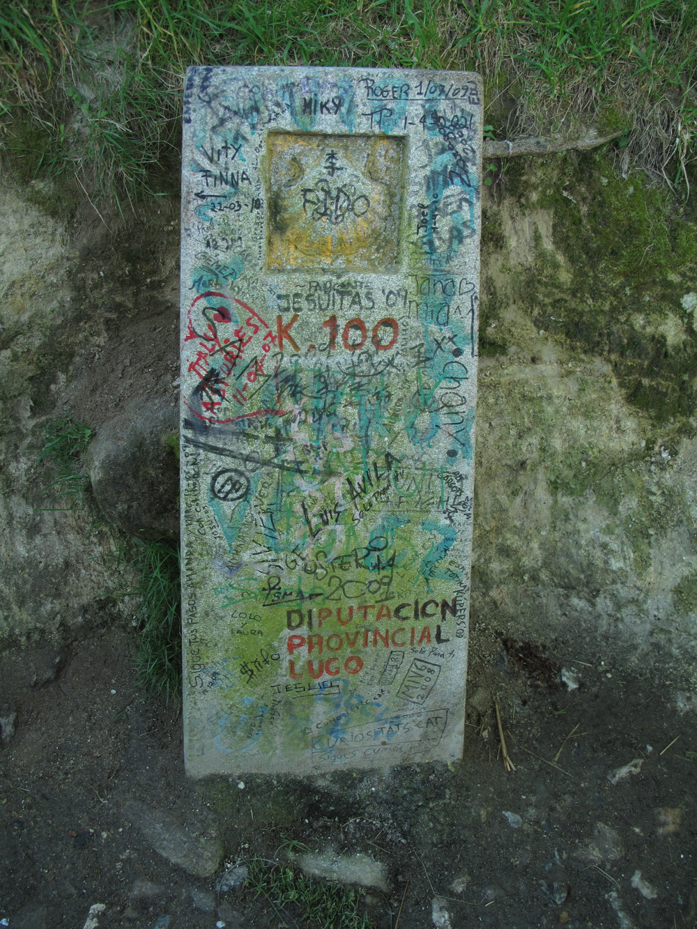 Technically, Sarria is a little past the 100km mark on the Camino. I came across this shortly after leaving Barbadelo, if I remember correctly.