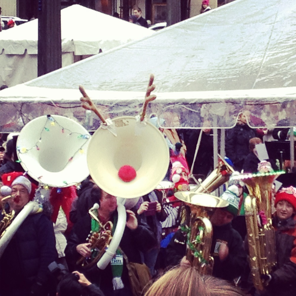 December slowed me down a bit. But I was still able to take in a Portland tradition, Tuba Christmas. Only in Portland will 300 tuba players come together to play Christmas Carols as the crowd in Pioneer Square sings along.