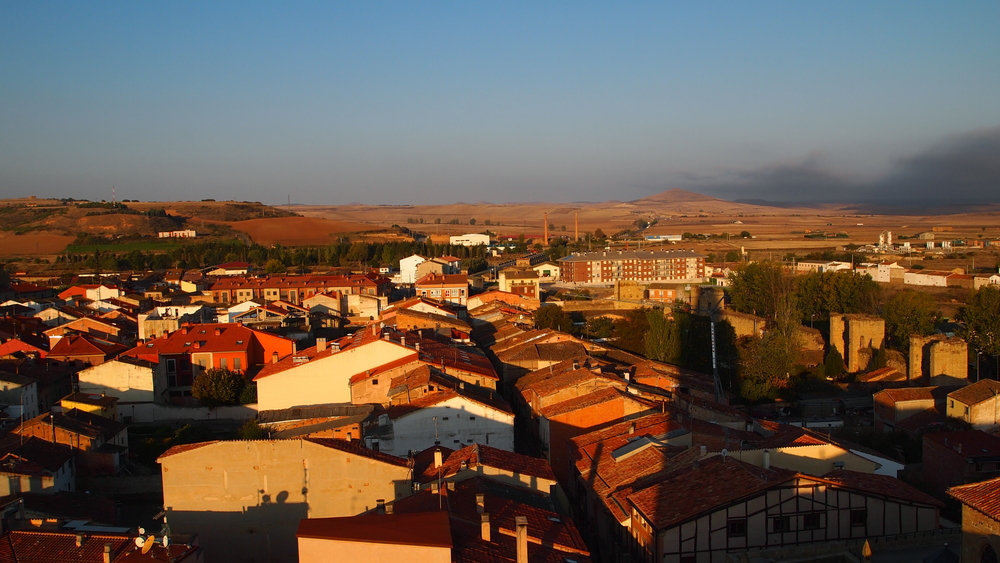 The view from the tower in Santo Domingo de la Calzada, Spain.  On a clear day, you could see for miles in either direction, all along the Camino.
