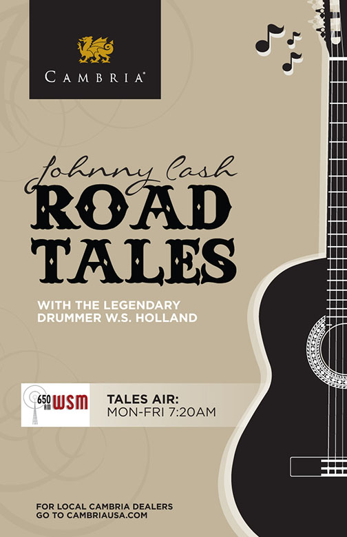 Johnny Cash Road Tales Poster