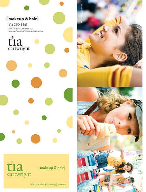 Tia Cartwright Self-Mailer with Integrated Business Card