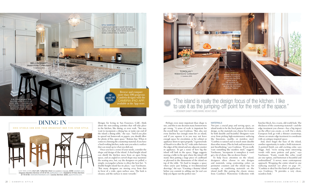 Cambria Style Article with Photography