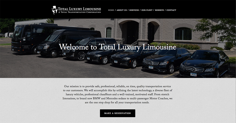 Total Luxury Limo Website