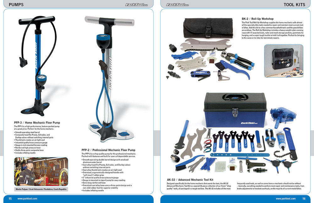 Park Tool Catalog Spread