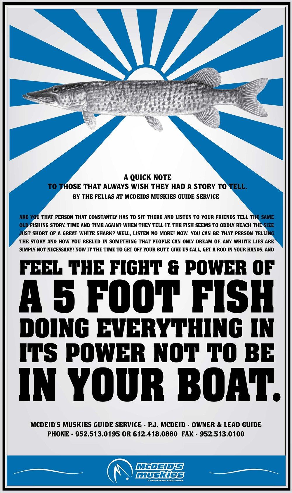 McDeids Muskies Poster