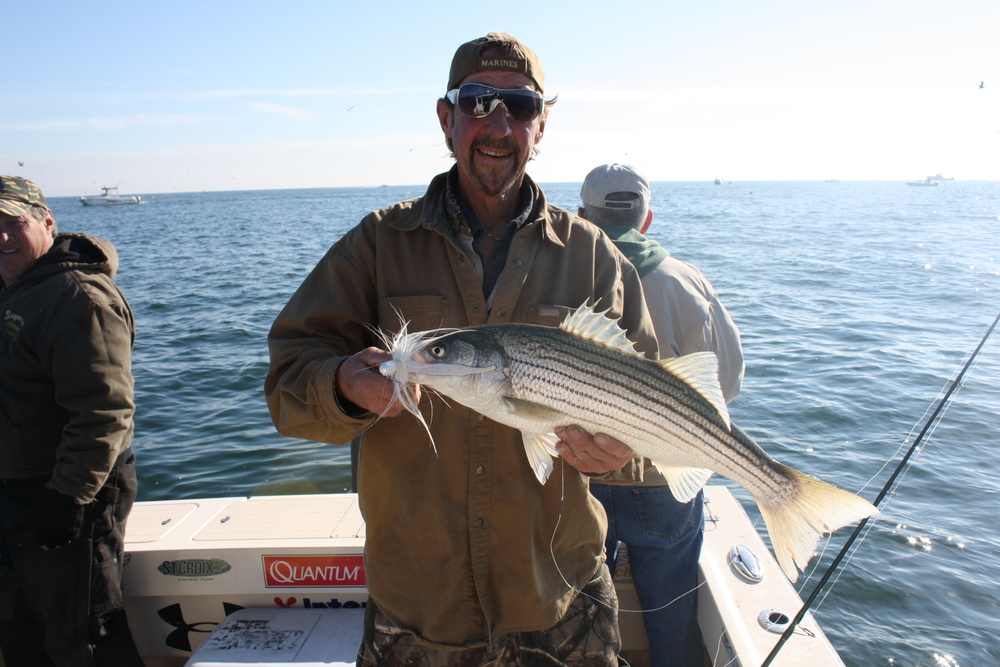 Insane striped bass fishing what a way to end the season for Tuna fishing charters nj