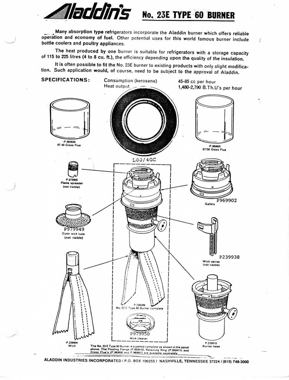 parts for kerosene refrigerators  u2014 antique kerosene lighting
