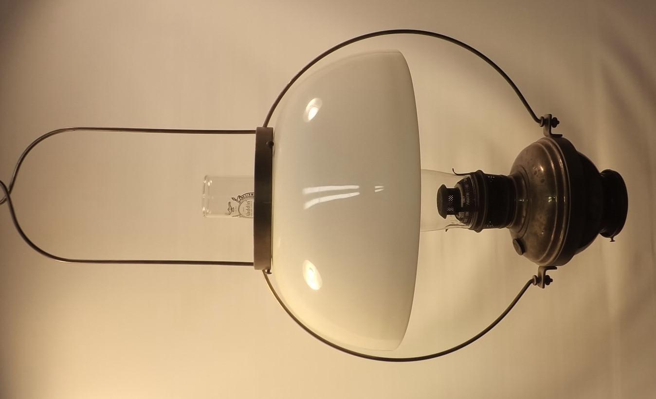 """P&A Royal CD lamp + 14"""" opal shade"""