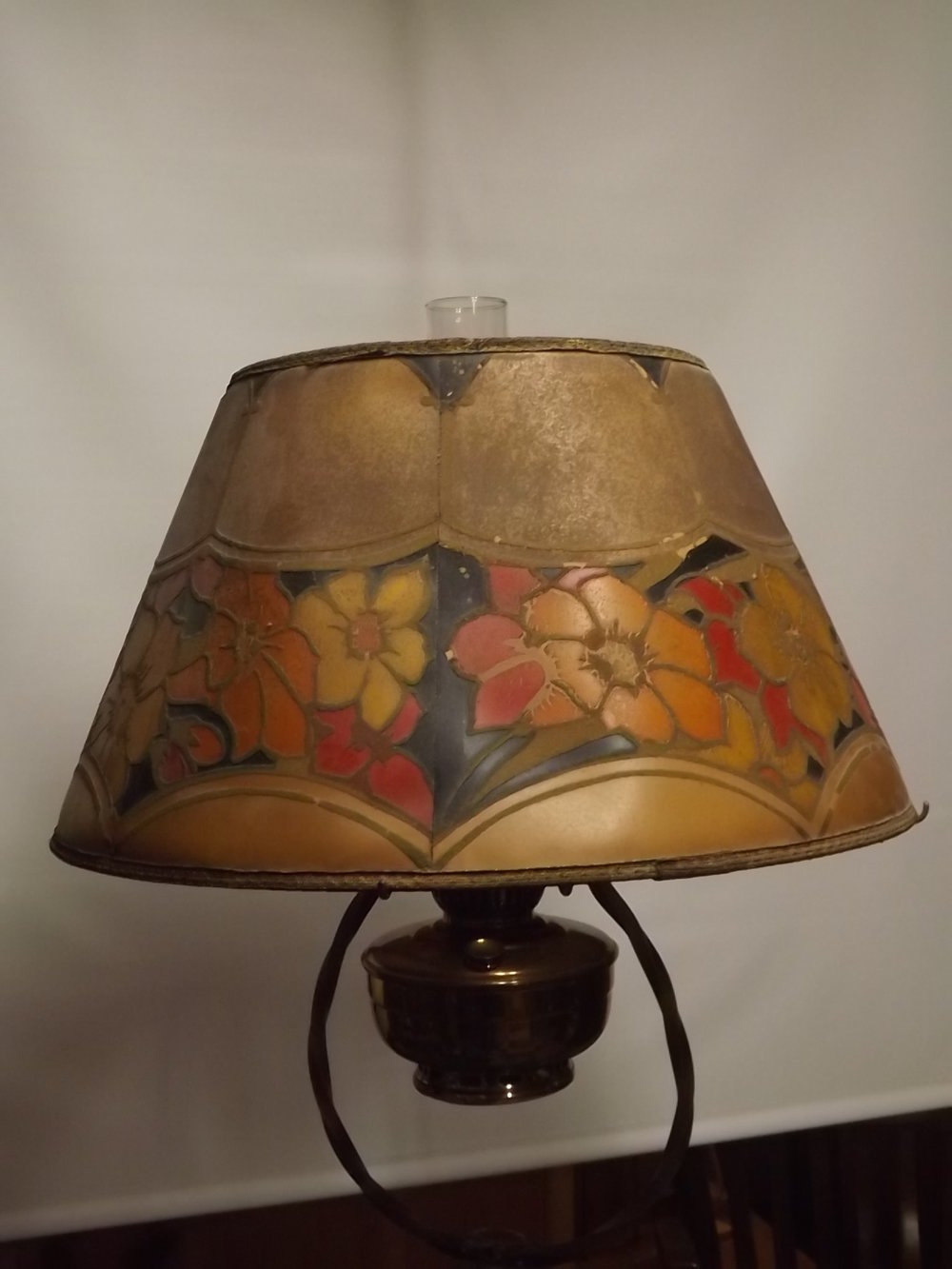 Antique floor lamps antique kerosene lighting birdcage 12 floor lamp aloadofball Image collections