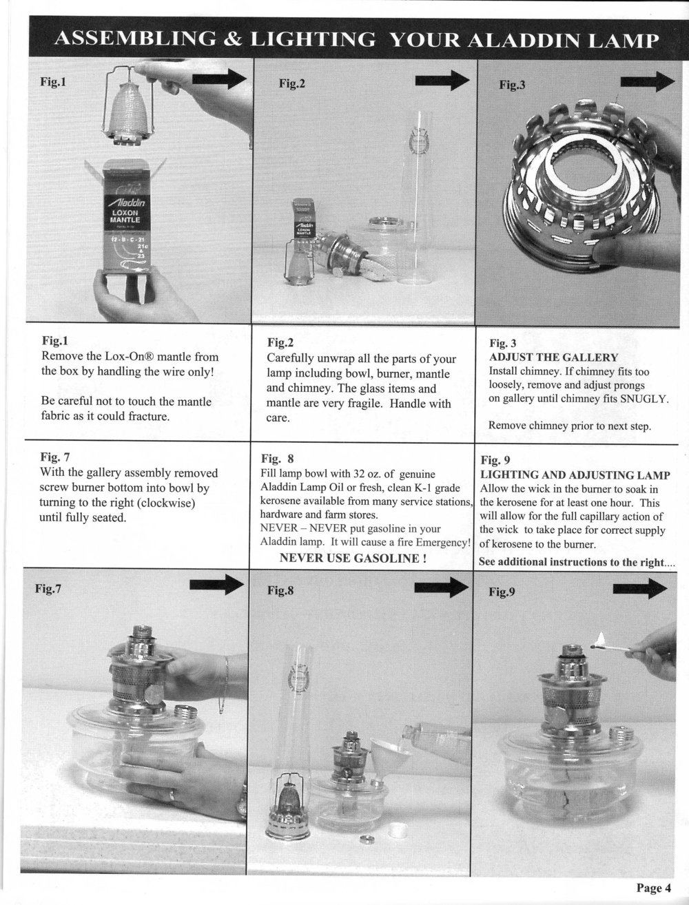 ... the second set cover the model #23A The instructions immediately below  are relevant for model B and to a large extent even the earlier metal lamps  3-11