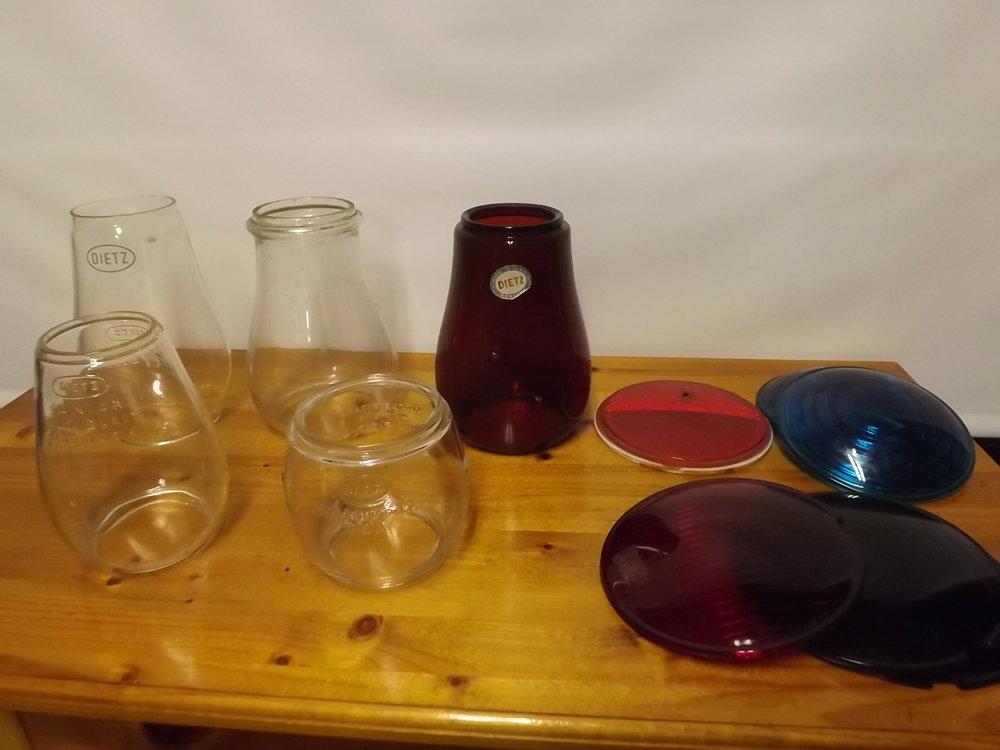 Used lantern glass