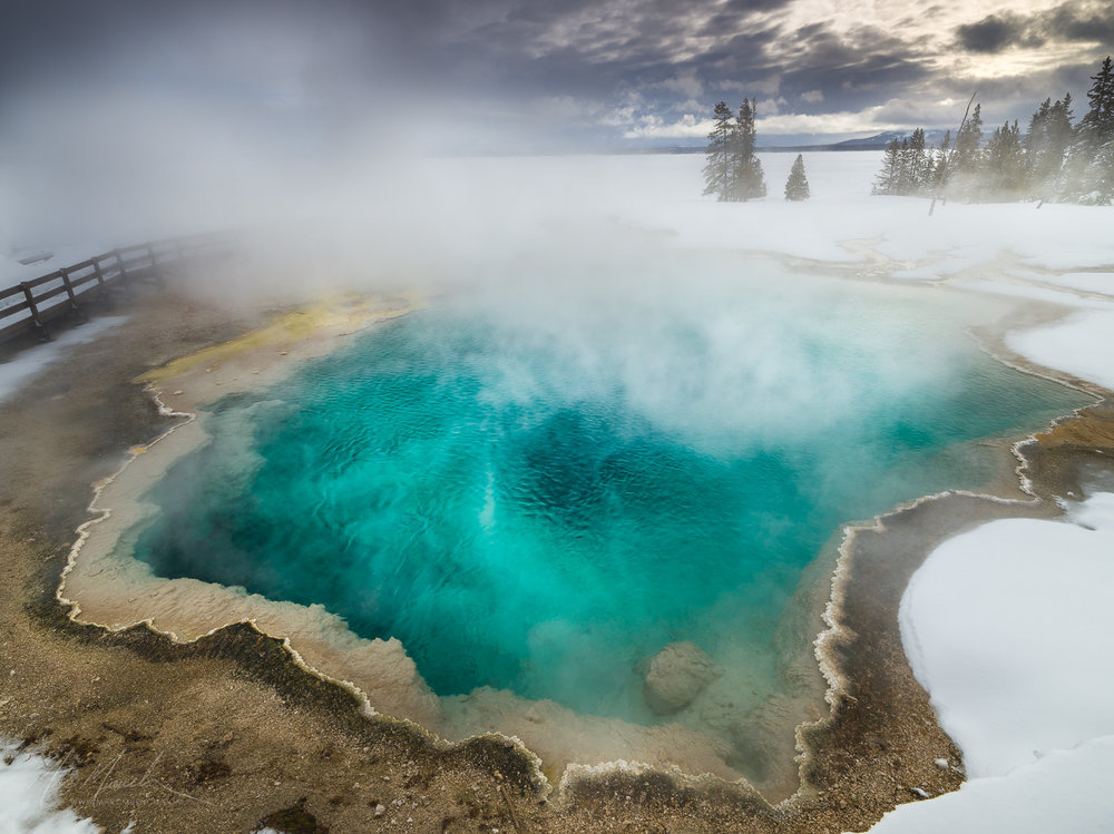 Black Pond, West Thumb Geyeser Basin, Yellowstone National Park, Wyoming