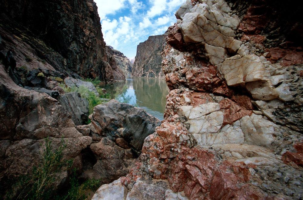 """Inner Gorge, Colorado River Grand Canyon NP  ARIZONA"""