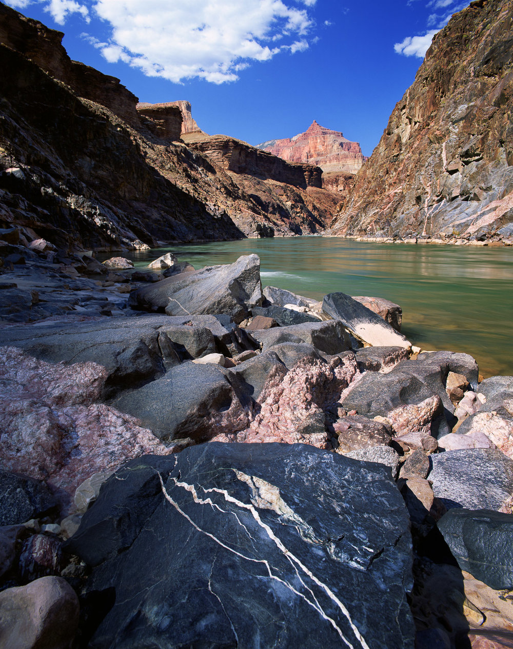 """Mile 111, Inner Gorge, Colorado River Grand Canyon NP  ARIZONA"""