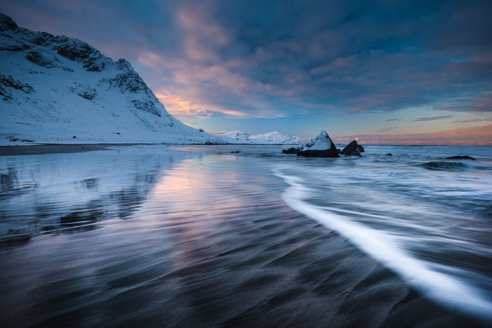 Skagsanden Beach, Lofoten Norway