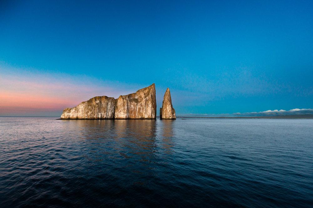 dusk at Kicker Rock, Galapagos Islands, Ecuador