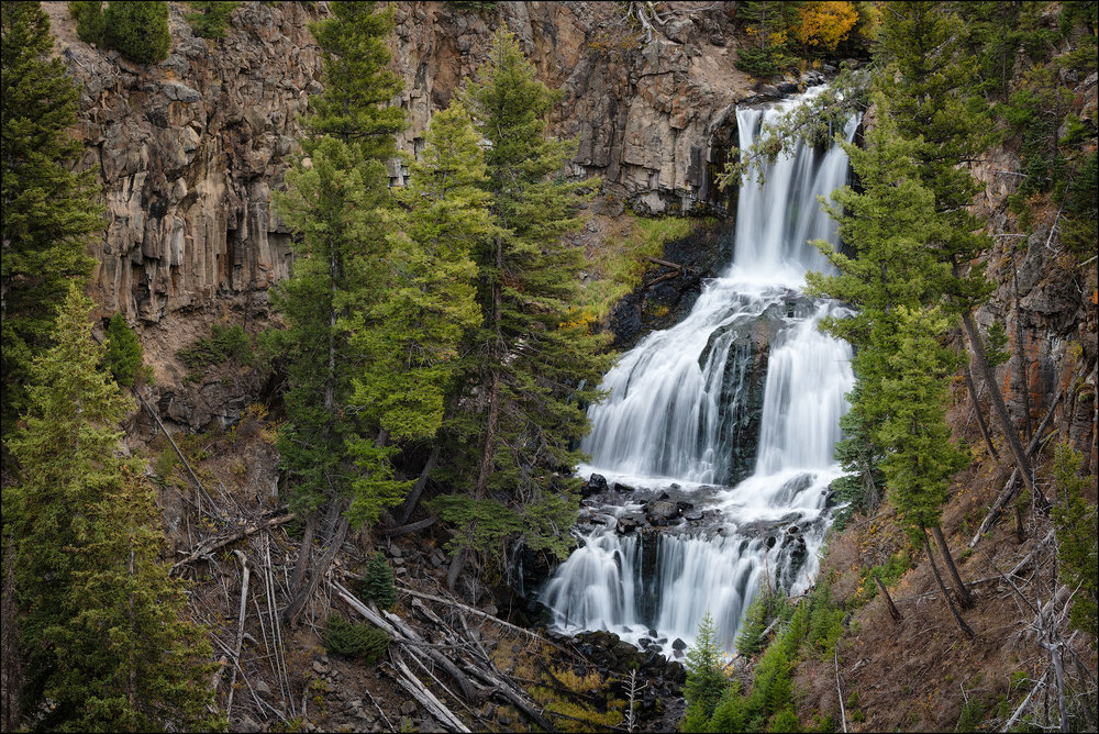 Undine Falls, Yellowstone National Park, Wyoming, USA