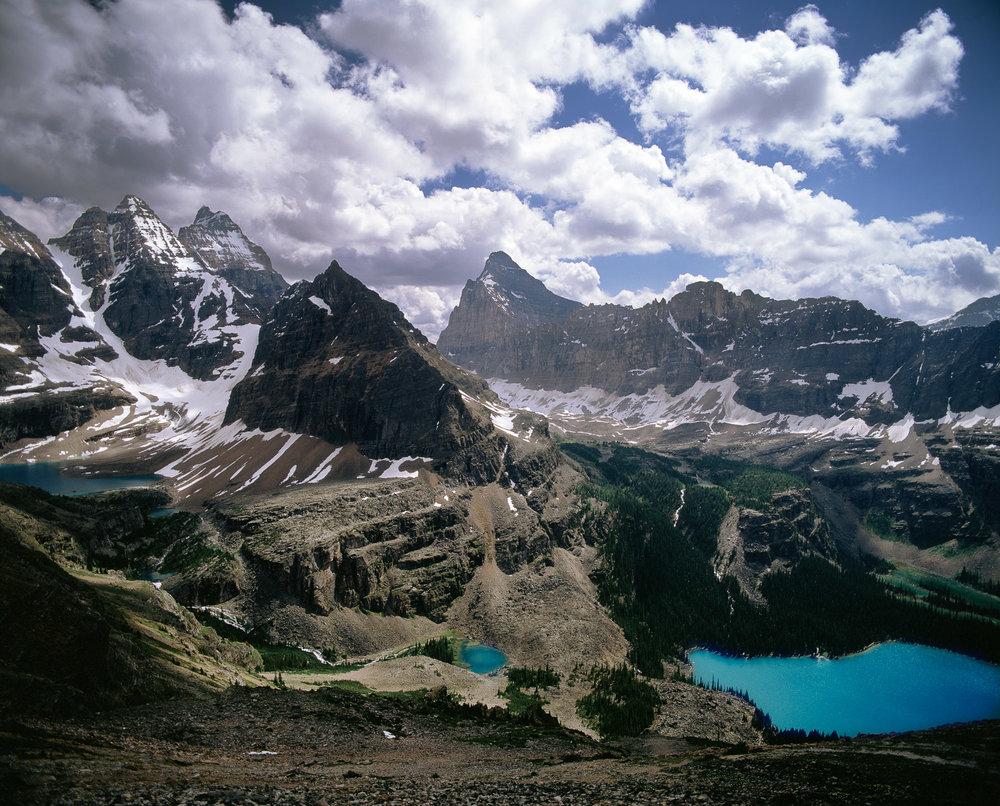 """Lake O Hara, Hungabee Mountain and Mt. Biddle Yoho NP  BC"""