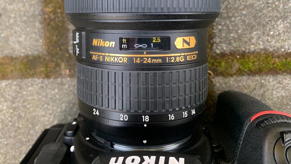 Nikon 14-24mm focused to infinity