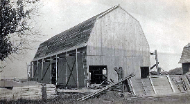 This barn was built by Jim's great-grandfather August and his sons Julius and Edwin in 1916.