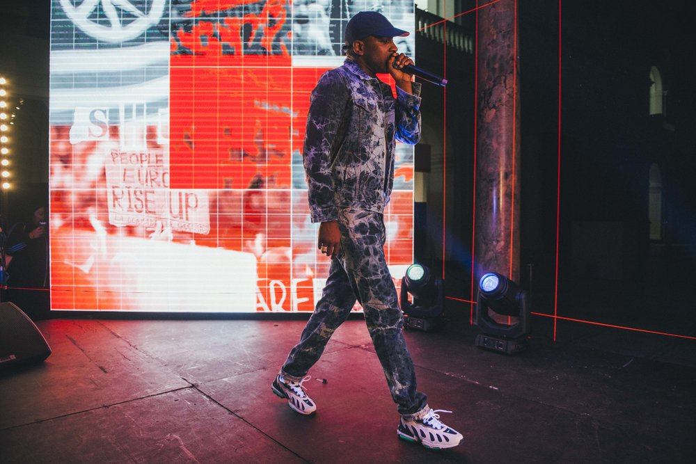 Skepta performs at the V&A wearing custom made  Levis .jpg