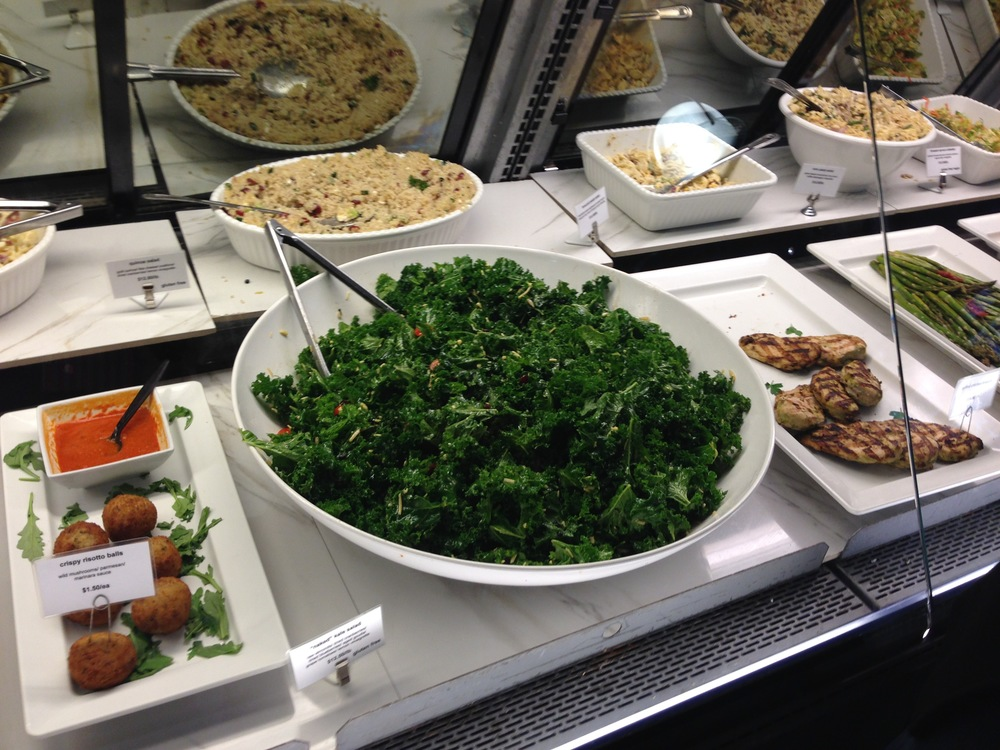 Gigantic bowl of kale at  Bull Street Gourmet Market.  Yuppies wished it, and it was so.