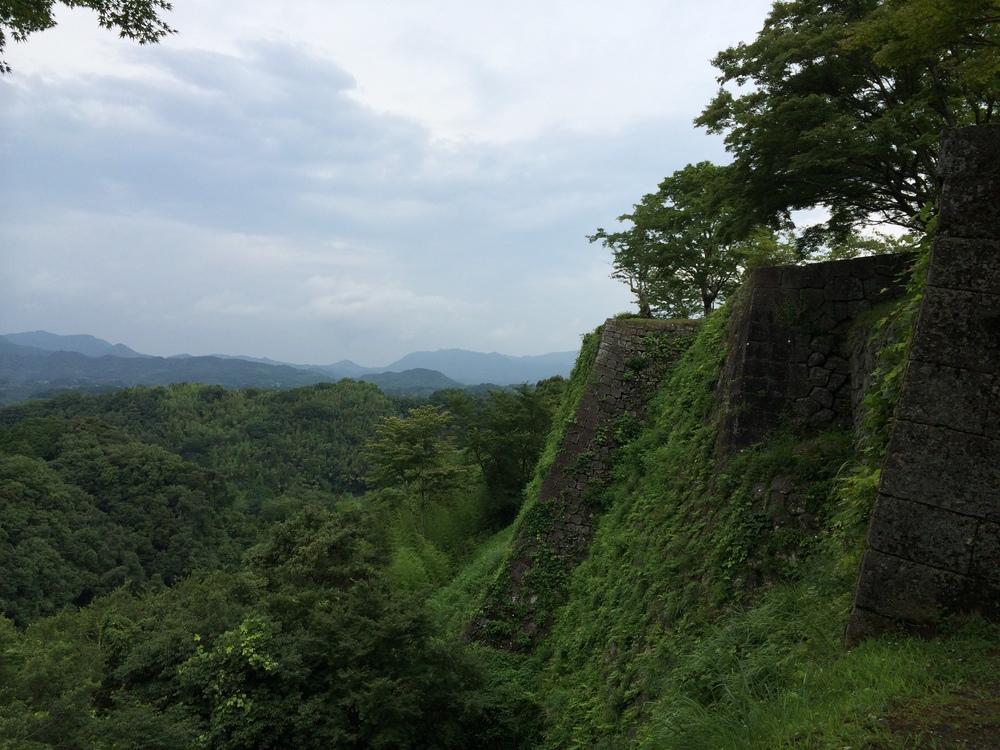 A view from Oka Joshi 岡城趾からの眺め。