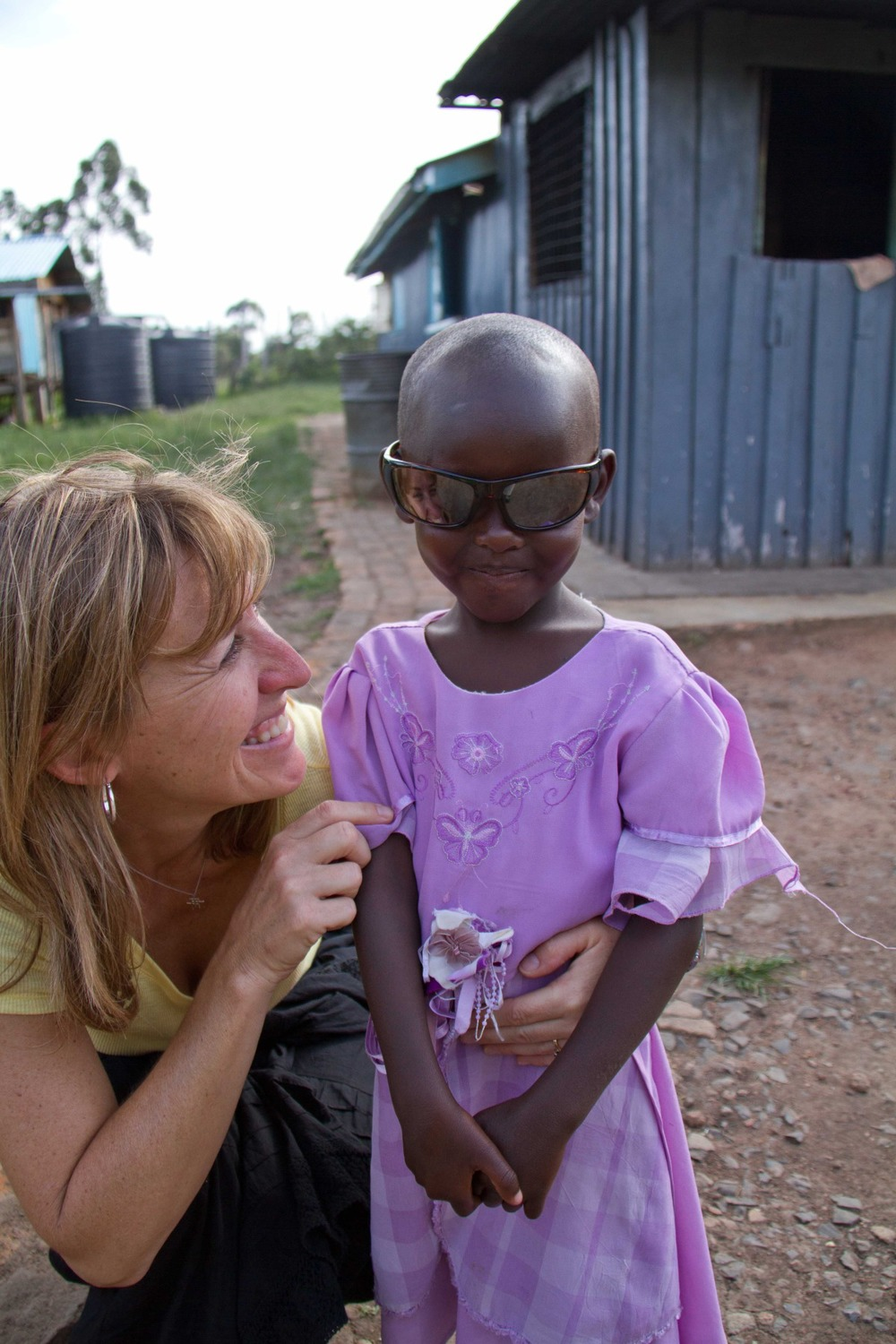 Sue Forwith with Kenyan girl