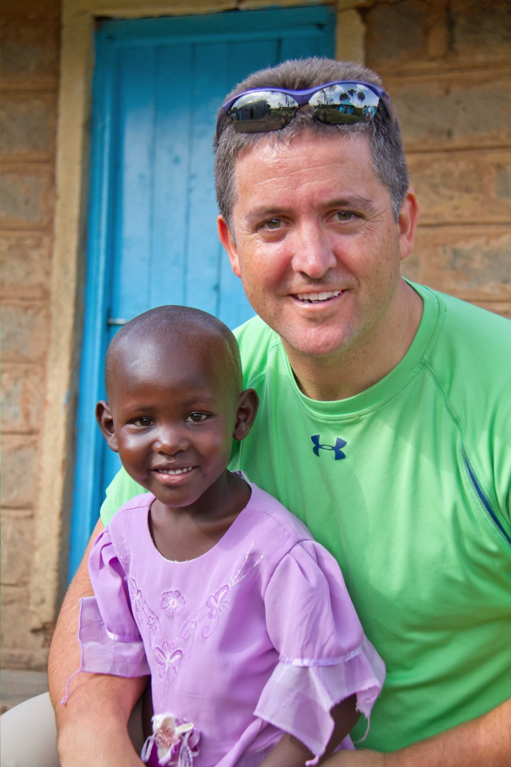 Keith Forwith with Kenyan girl