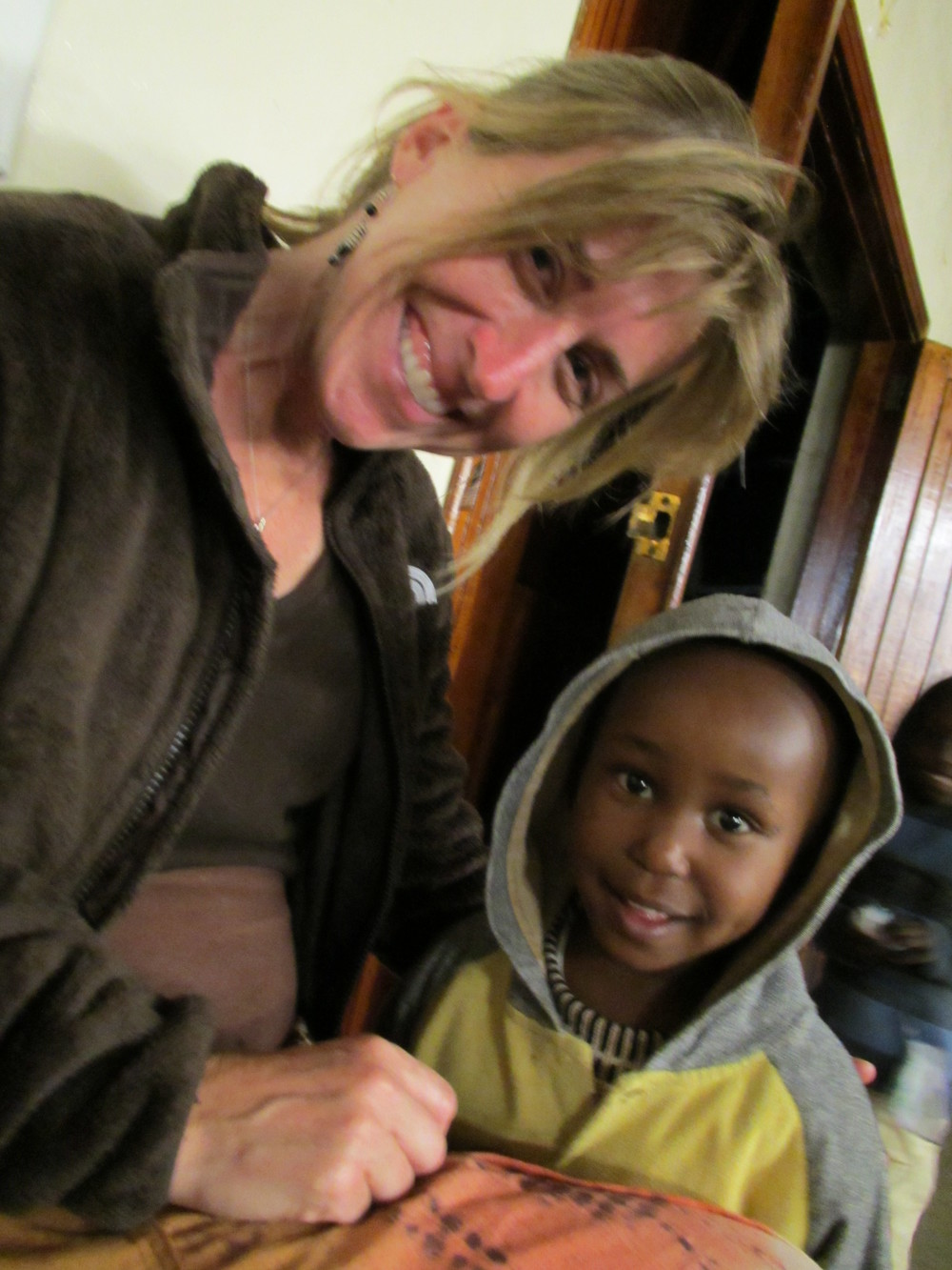 Sue and Kenyan child