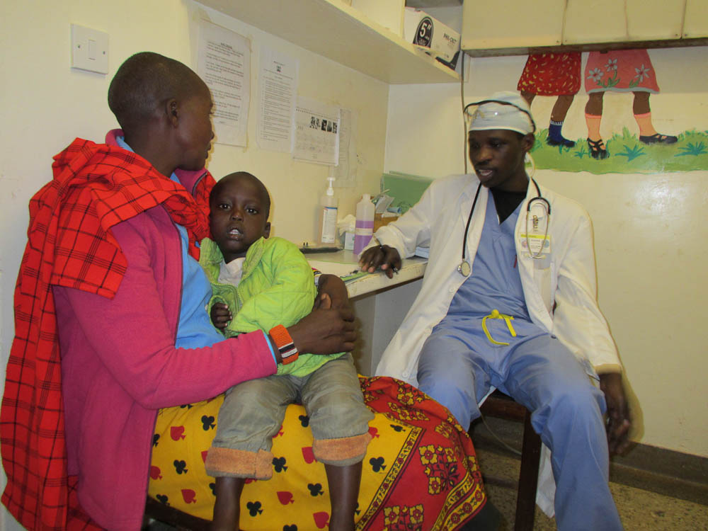 Kenyan resident with patients