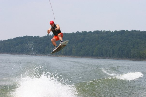My former passion, wakeboarding, was too hard on the knees!