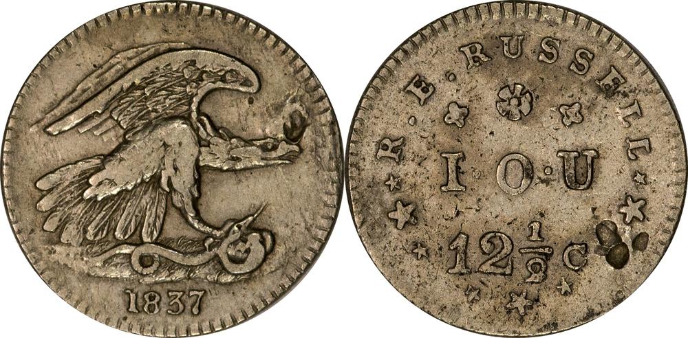 1837 Feuchtwanger Hard Times Token