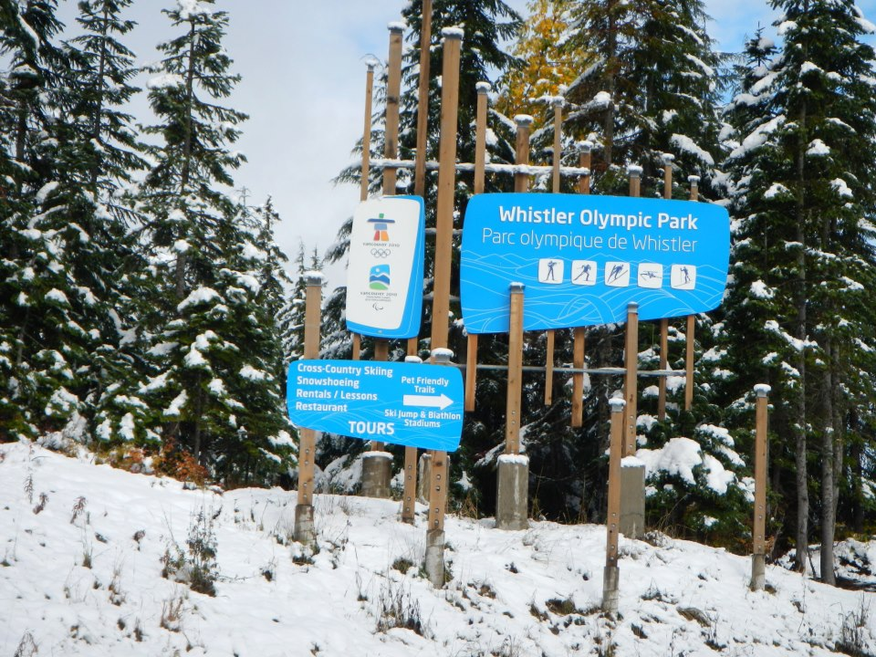 Whistler Olympic Park sign