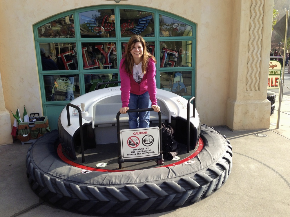 Me, standing in a flying tire!