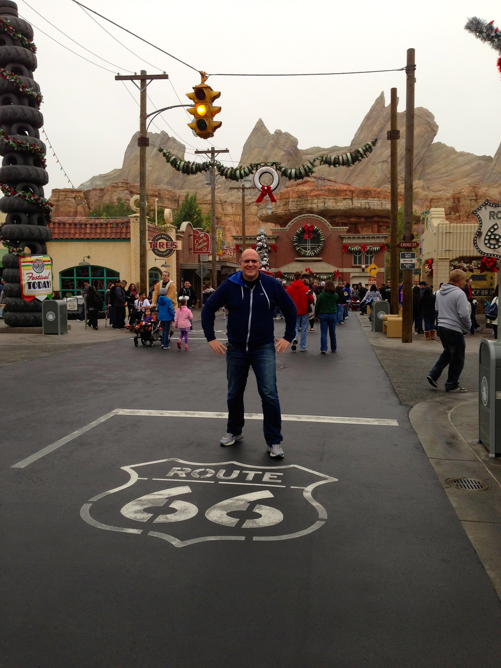 Dan in Cars Land.