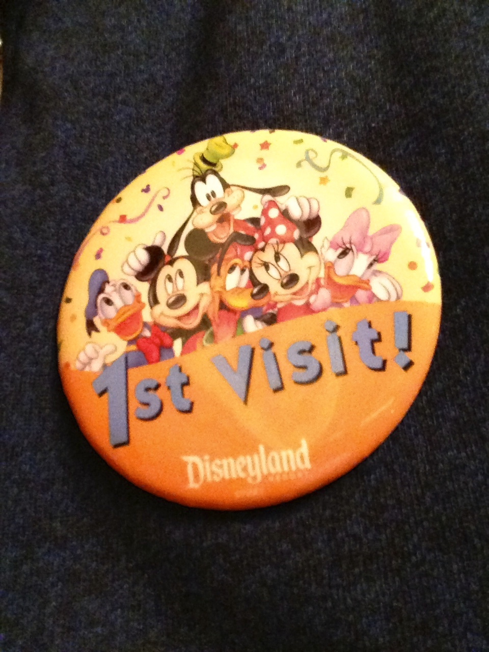 Dan got a button for his first visit to DCA.